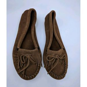 Minnetonka 8.5 Moccasin Loafer Leather Suede Flats